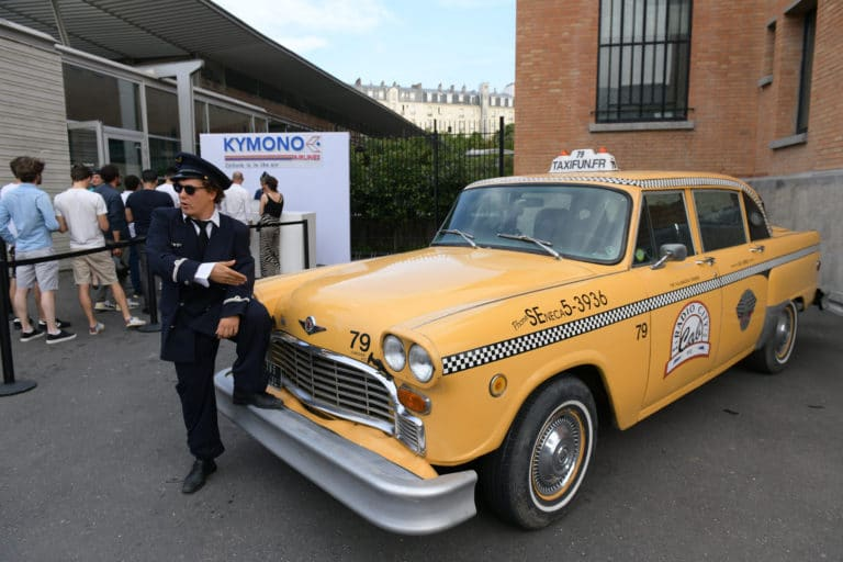jonathan alix acteur checker cab taxi new york aeroport vintage Kymono agence wato we are the oracle evenementiel event