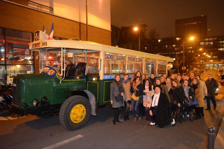 Human n partners bus ancien 1930 transport insolite équipe team agence wato paris soirée event corporate evenementiel