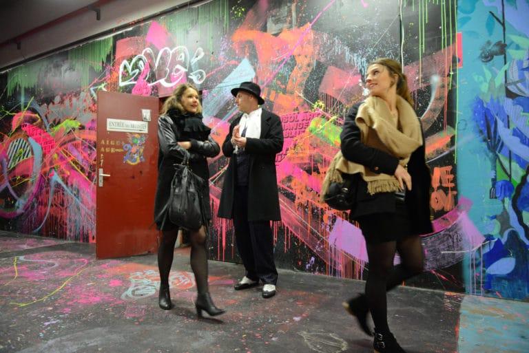 Human n partners visite guidée frigos brut street art graffiti insolite équipe team agence wato paris soirée event corporate evenementiel