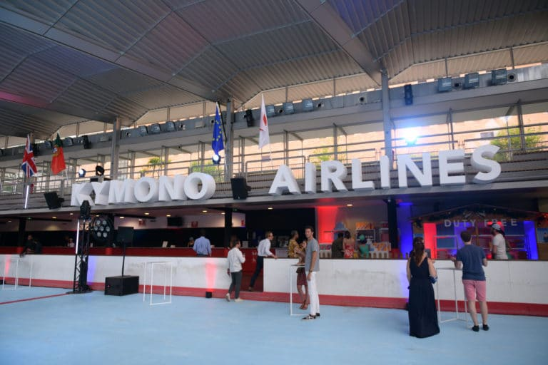 patinoire pailleron bar cocktail kymono airlines aeroport vintage ancienne patinoire Kymono agence wato we are the oracle evenementiel event