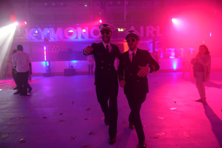 foulques jubert louis marie rohr stewarts soiree dansante dance floor kymono airlines ancienne patinoire aeroport vintage Kymono agence wato we are the oracle evenementiel event