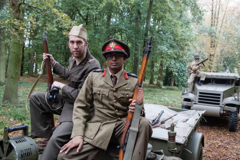 Enguerran de La Chevasnerie Nitish Khoobarry acteur jeep blindé militaire soldats fusils France teaser video Victorious Shelter agence wato we are the oracle evenementiel event