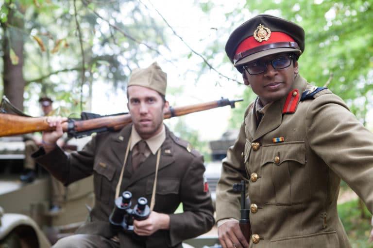 Enguerran de La Chevasnerie Nitish Khoobarry acteur soldat français fusil jumelles képi France teaser video Victorious Shelter agence wato we are the oracle evenementiel events