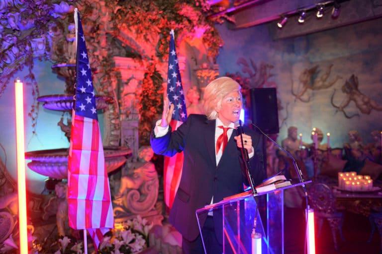 Louise De Ville actrice Trump discours loft baroque paolo calia paris france diner leboncoin thème usa américain agence wato we are the oracle evenementiel events