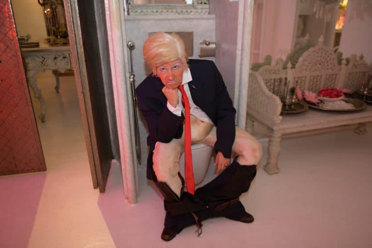 Louise De Ville actrice Trump toilettes le penseur rodin loft baroque paolo calia paris france diner leboncoin thème usa américain agence wato we are the oracle evenementiel events