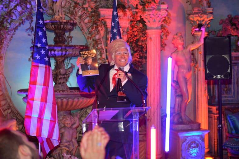 Louise De Villle actrice Trump livre Donald Trump discours loft baroque paolo calia paris france diner leboncoin thème usa américain agence wato we are the oracle evenementiel events