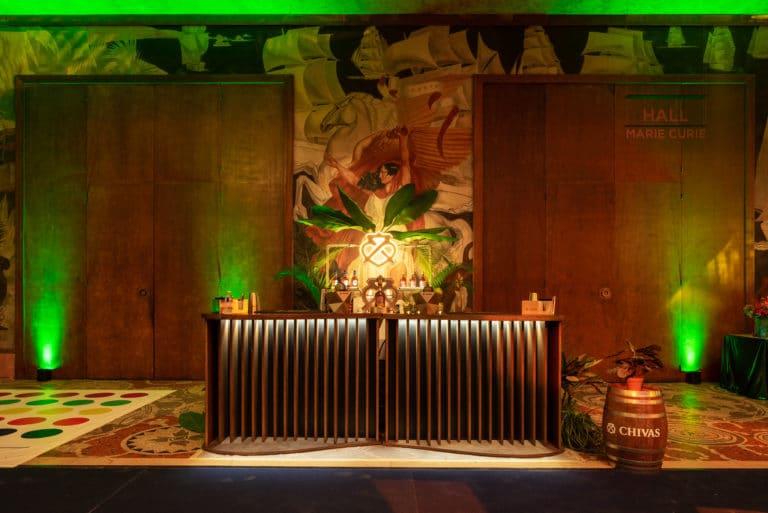 activation chivas whisky bar product launch palais de la porte doree the family the phoenix temple theme jungle evenement sur mesure agence wato we are the oracle evenementiel events