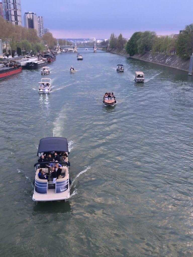 bateaux de luxe seine cocktail croisière port de javel haut paris france soirée privée stripes agence wato we are the oracle evenementiel event