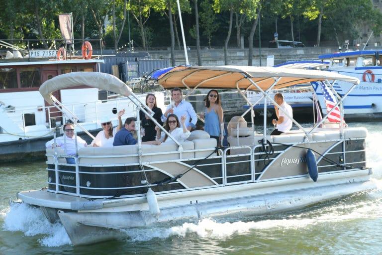 croisière bateaux luxe champagne drapeau usa seine paris france diner leboncoin thème usa américain agence wato we are the oracle evenementiel events