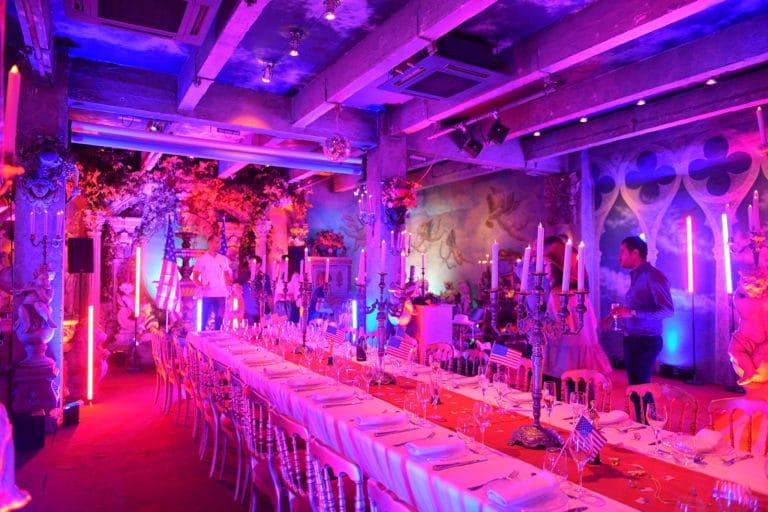 décoration usa diner aux chandelles loft baroque paolo calia paris 19e arrondissement france diner leboncoin thème usa américain agence wato we are the oracle evenementiel events
