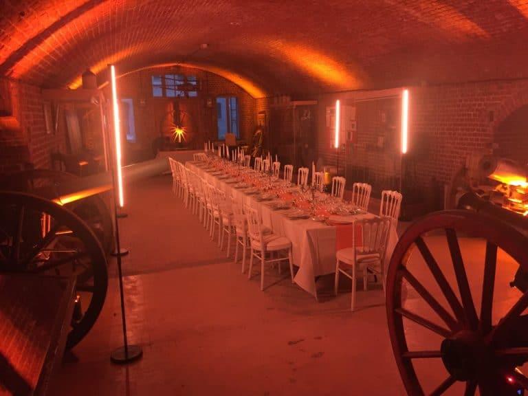 diner lbc canons theme militaire armee eclairage evenementiel evenement sur mesure lille france diner d exception leboncoin agence wato we are the oracle evenementiel events