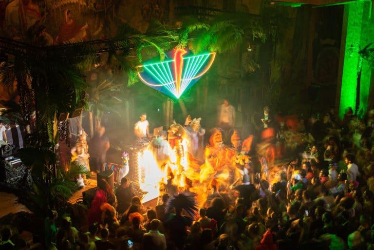 logo the family soiree dansante dancefloor azteque chamane palais de la porte doree the family phoenix temple theme jungle evenement sur mesure agence wato we are the oracle evenementiel event