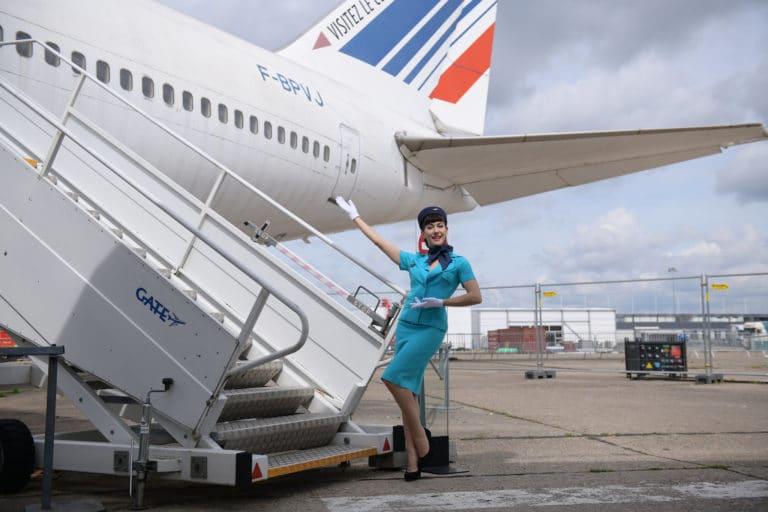 aéroport bourget louise de ville air france avion boeing 747 teaser kymono airlines musee de l'air et de l'espace backstage agence wato we are the oracle evenementiel event