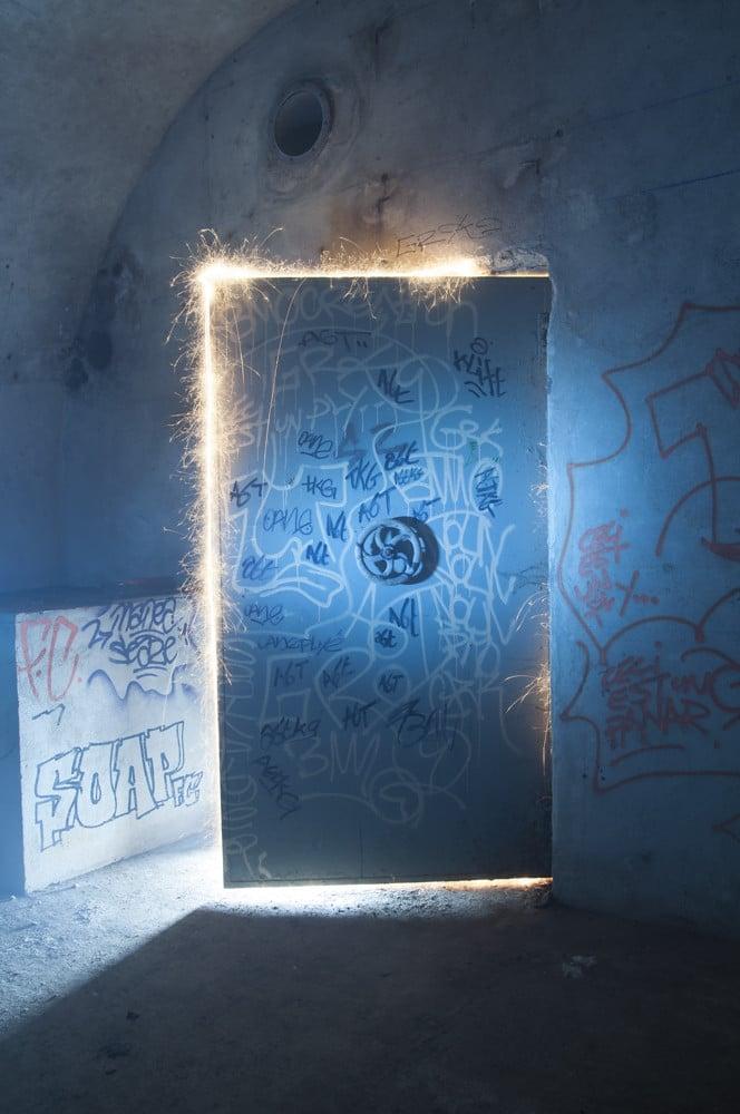 porte graffiti bunker Abri Lefebvre abri anti atomique paris 15 arrondissement France teaser Victorious Shelter agence wato we are the oracle evenementiel events