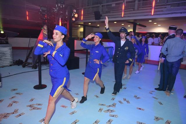 happening hip hop choregraphie billets personnalises dance floor soiree dansante kymono airlines ancienne patinoire aeroport vintage Kymono agence wato we are the oracle evenementiel event