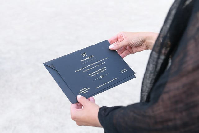 invitation personnalisée tao prestige conciergerie de luxe 10 ans petit palais paris france agence wato we are the oracle evenementiel event
