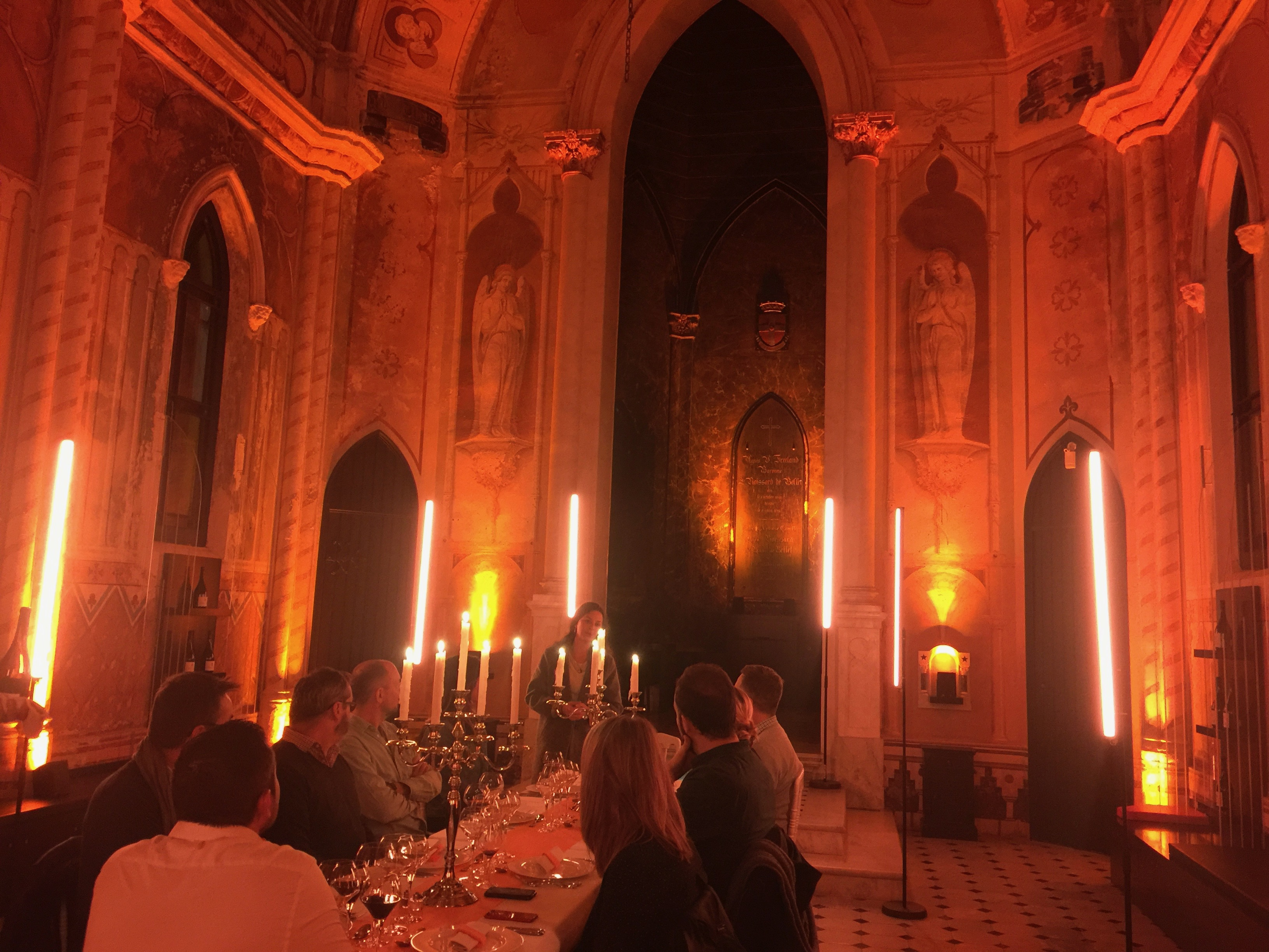 Murder Mystery Dinner Party in a chapel in Nice