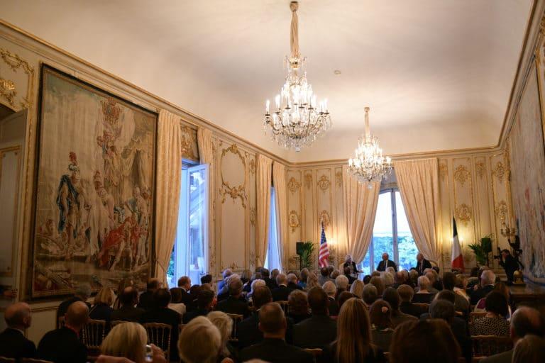 Jamie Mc Court ambassadrice usa france discour speech france hotel de pontalba paris residence ambassadeur des etats unis agence wato we are the oracle
