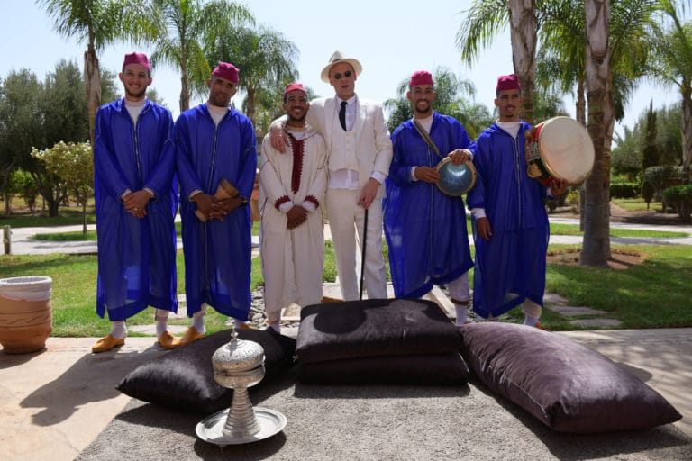 Vincent Gaeta acteur groupe de musique traditionnelle marocaine seminaire taleo 5 ans the tatane project marrakech maroc agence wato we are the oracle evenementiel events