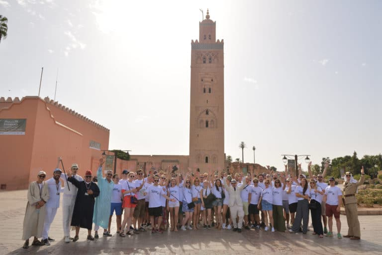 place jemaa el fna koutoubia mosquee voyage incentive team building voyage agence wato evenementiel event taleo cinq ans the tatane project marrakech maroc