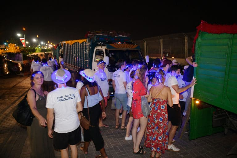perles de fee goodies event soiree dansante danse lights bleu voyage incentive team building voyage agence wato evenementiel event taleo cinq ans the tatane project marrakech maroc maghreb