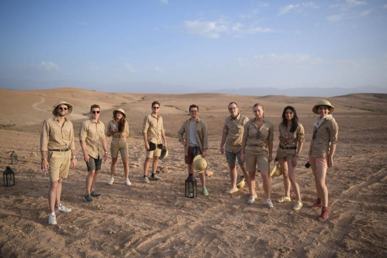 costumes explorateur desert agafay voyage incentive team building voyage agence wato evenementiel event taleo cinq ans the tatane project marrakech maroc maghreb