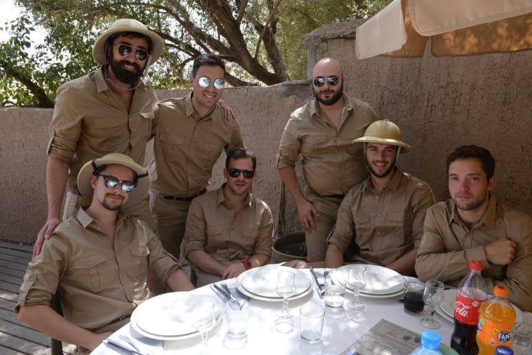 costumes explorateur dejeuner voyage incentive team building voyage agence wato evenementiel event taleo cinq ans the tatane project marrakech maroc maghreb
