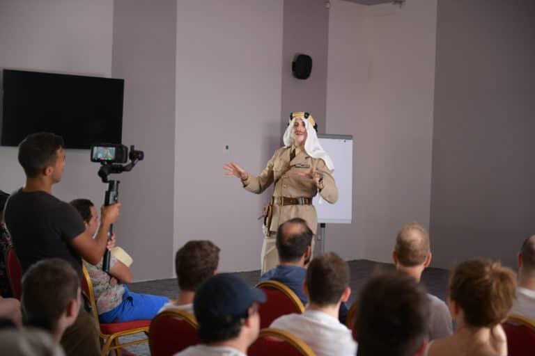 gregoire desrousseaux acteur conference brief pitch speecth agence wato evenementiel taleo cinq ans the tatane project marrakech maroc