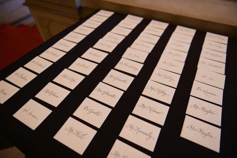 invitation personnalisee vip caligraphie diner de prestige Monnaie de paris france george washington mount vernon usa agence wato evenementiel we are the oracle event