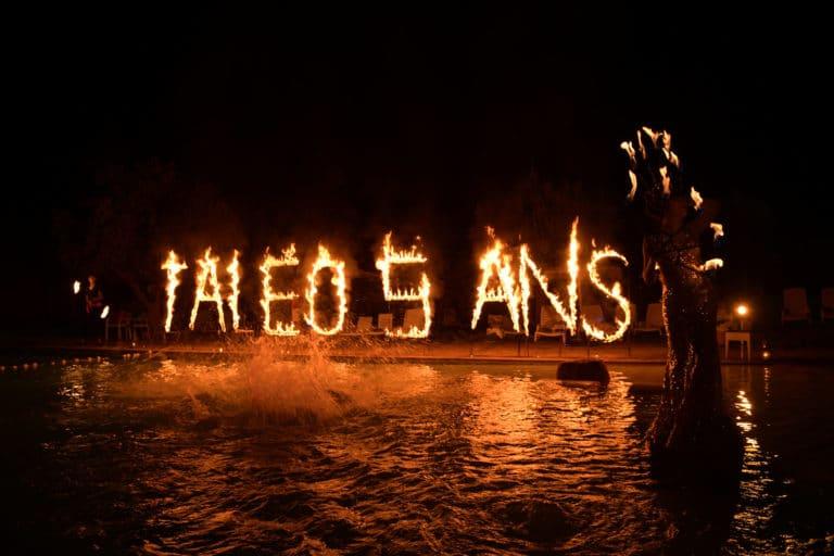 lettres de feu soiree dansante danse nuit spots pool party incentive team building voyage agence wato evenementiel event taleo cinq ans the tatane project marrakech maroc