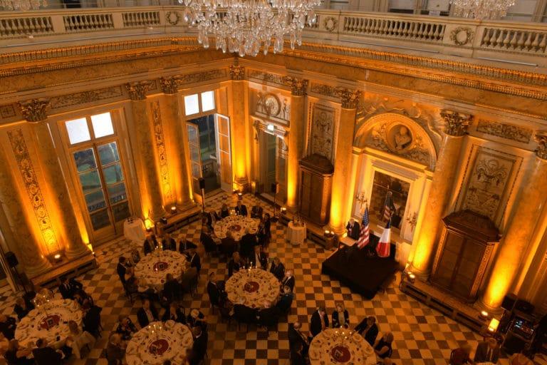 salon dupré diner de gala Monnaie de paris france drapeaux george washington mount vernon usa agence wato evenementiel we are the oracle event