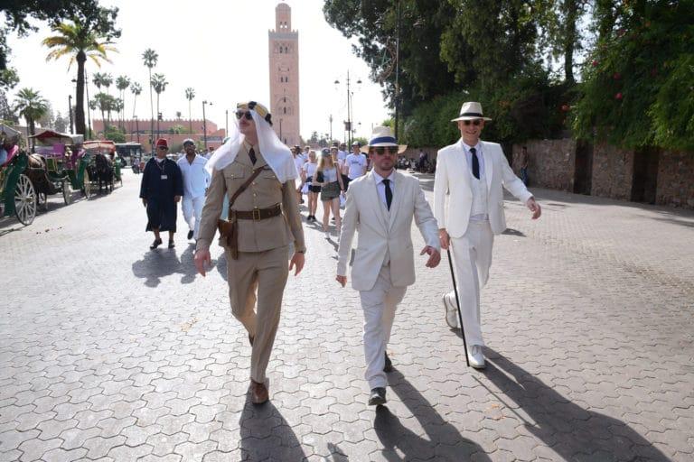 vincent gaeta gregoire desrousseaux foulques jubert Place Jemaa el Fna Koutoubia incentive team building voyage agence wato evenementiel event taleo cinq ans the tatane project marrakech maroc