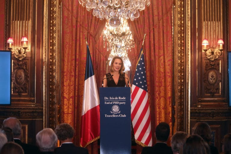 Iris de Rode PhD Paris speech pitch discours agence wato paris travellers club paris