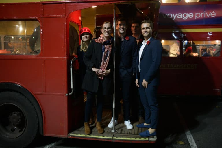bus double deck imperial anglais fun agence wato evenementiel vp members club soiree theme downton abbey two temple place londres bus anglais