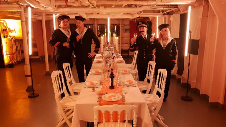 foulques jubert immersion navire de guerre marine nationale francaise diner aux chandelles t47 mailé-brézé bateau diner d exception leboncoin agence wato evenementiel events