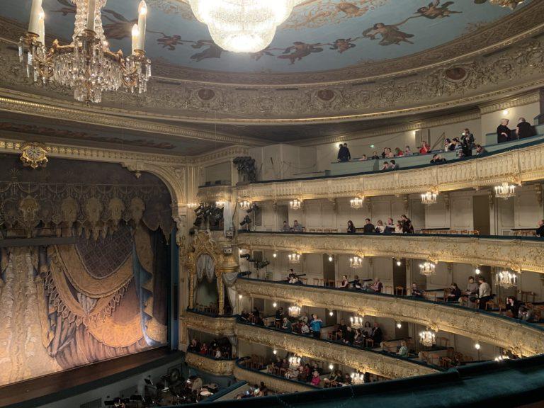Balcons du theatre mariinsky saint petersbourg russie