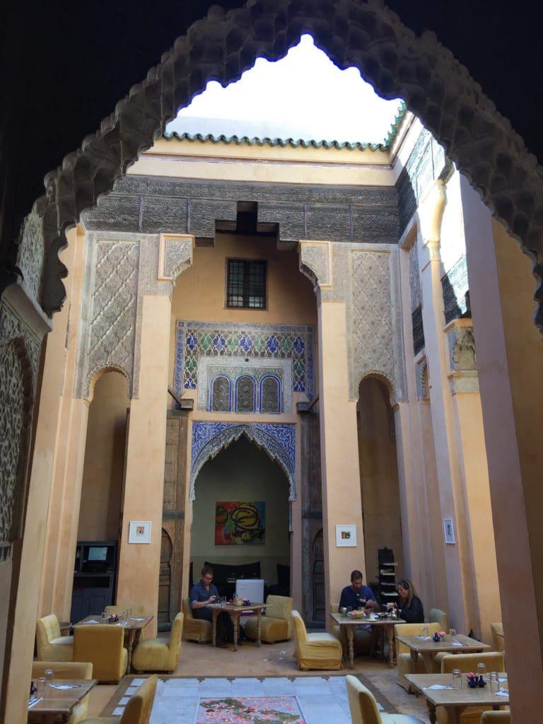 Dar Cherifa patio medina de marrakech maroc