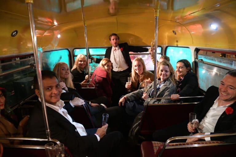 Foulques Jubert london bus double decker route master hire londres uk event hire