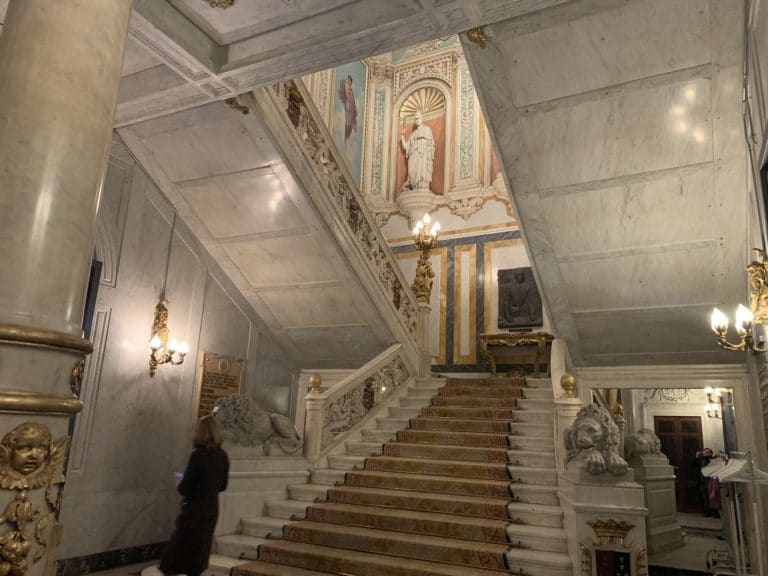 Grand Escalier Palacio Santona lieu evenementiel elegant Madrid Espagne