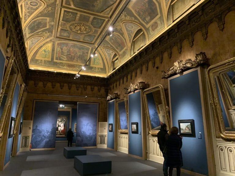 Palacio Gaviria Madrid inside Brueghel exhibition room