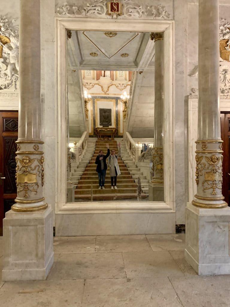Palacio Santona Madrid Espagne Foulques Jubert miroir fun