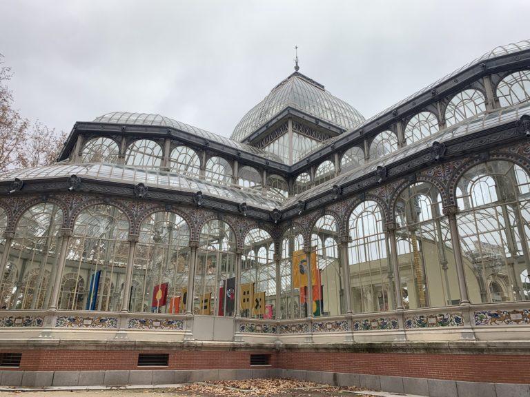 Palacio de cristal vue de cote Madrid
