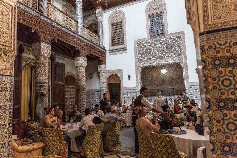 Palais Dar timtam lieu evenementiel restaurant medina marrakech maroc