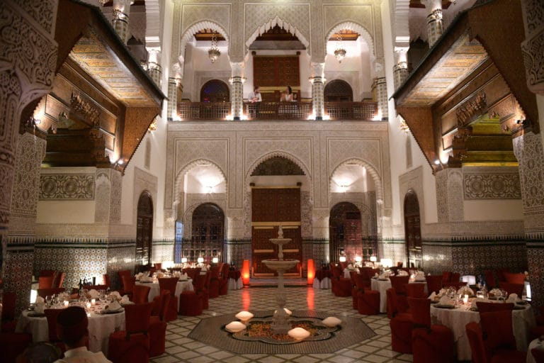 Palais Gharnata salle evenementielle diner d'exception marrakech maroc