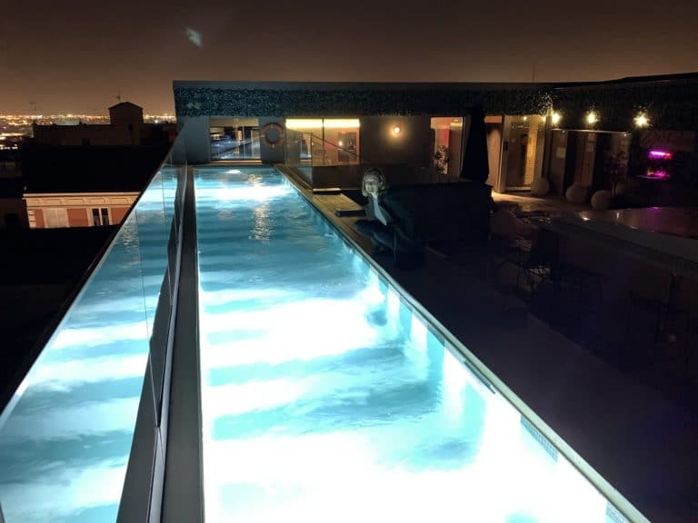 Rooftop pool Axel Hotel Madrid