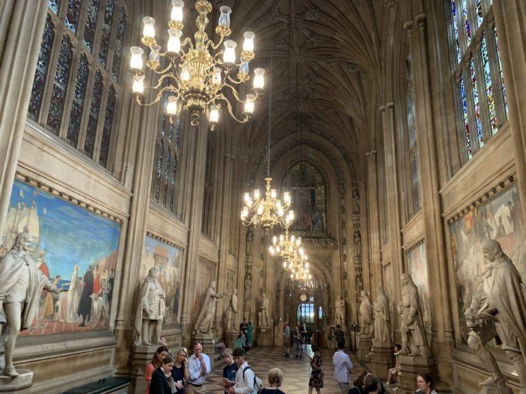 St stephen hall westminster palace house of parliament london uk united kingdom