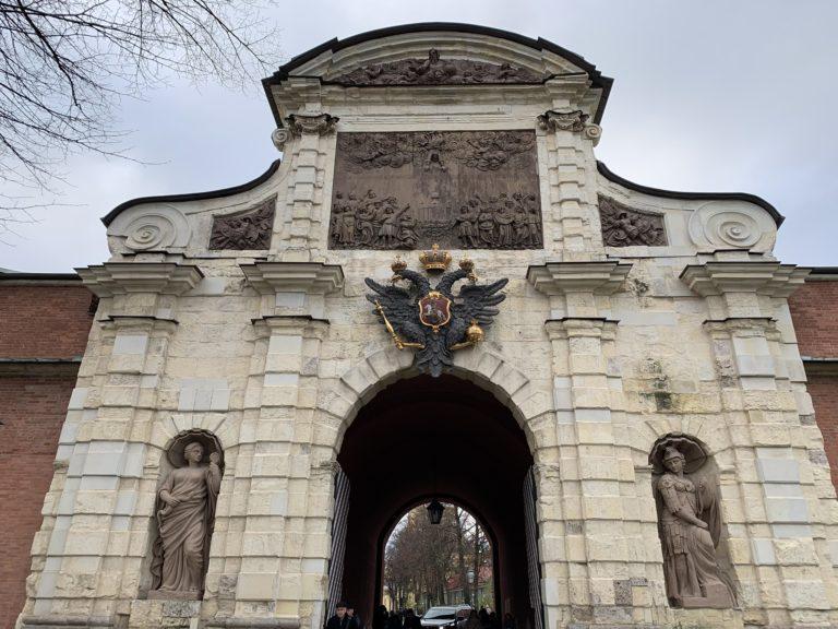 aigle bicephale forteresse pierre et paul saint peterbourg russie