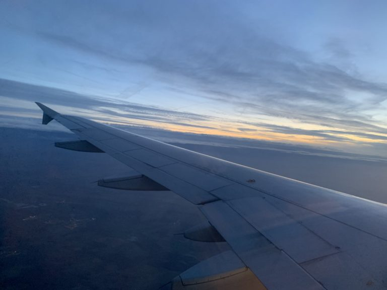 aile avion soleil couchant russie