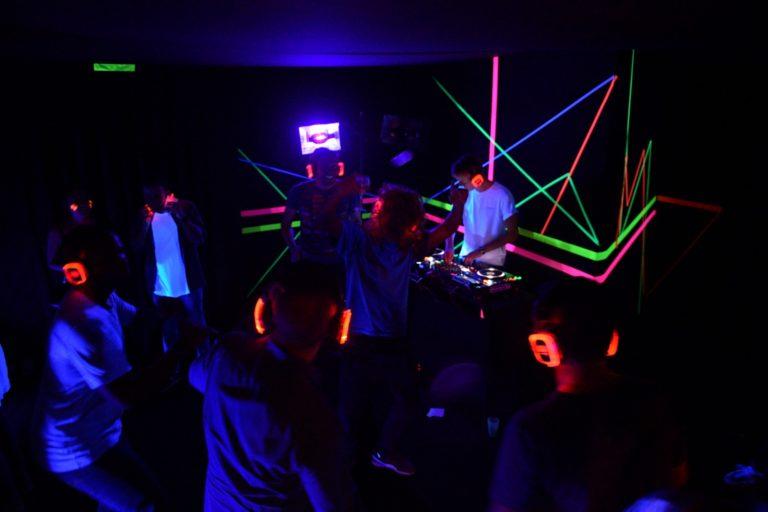 amazon disco ball wato we are the oracle soiree paris evenementiel dock b fluo silent disco
