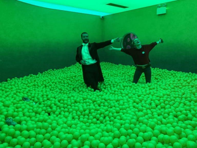 ballie ballerson soho yellow ball pit london fun